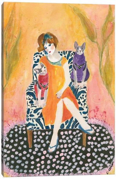 Sphynx Lady Canvas Art Print
