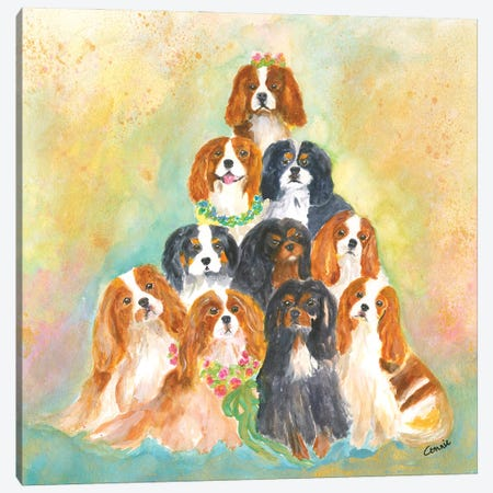 A Bunch Of Cavaliers Canvas Print #CCM68} by Connie Collum Canvas Wall Art