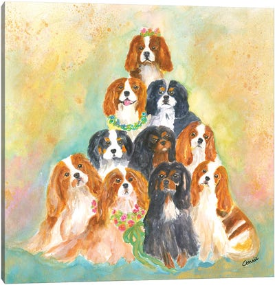 A Bunch Of Cavaliers Canvas Art Print