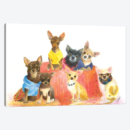 Chihuahuas Have My Heart 3-Piece Canvas #CCM69} by Connie Collum Canvas Wall Art