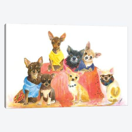 Chihuahuas Have My Heart Canvas Print #CCM69} by Connie Collum Canvas Wall Art