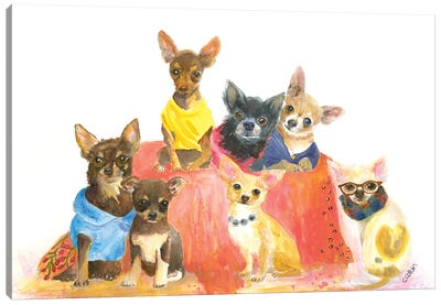 Chihuahuas Have My Heart Canvas Art Print