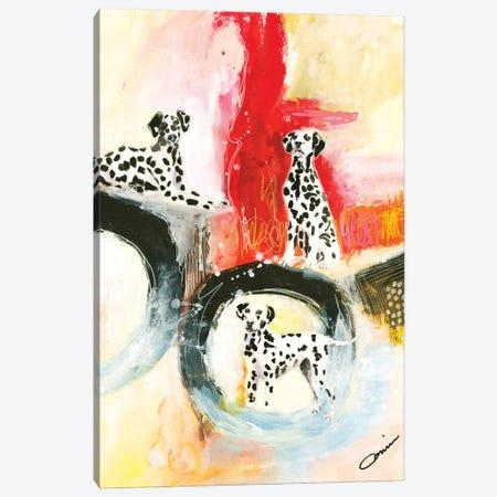 Dalmatian Trio Canvas Print #CCM70} by Connie Collum Canvas Print