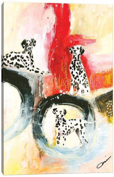 Dalmatian Trio Canvas Art Print