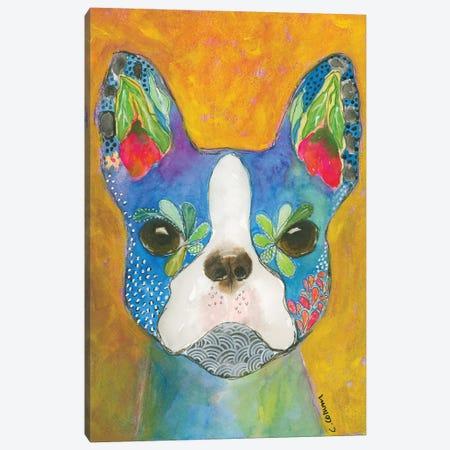 Boston Blue 3-Piece Canvas #CCM8} by Connie Collum Canvas Print