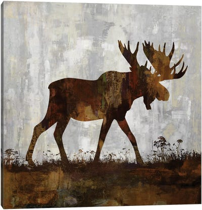 Moose Canvas Art Print