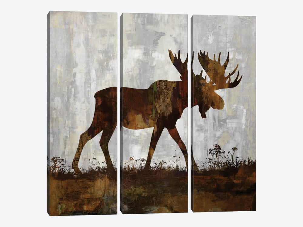 Moose by Carl Colburn 3-piece Canvas Wall Art