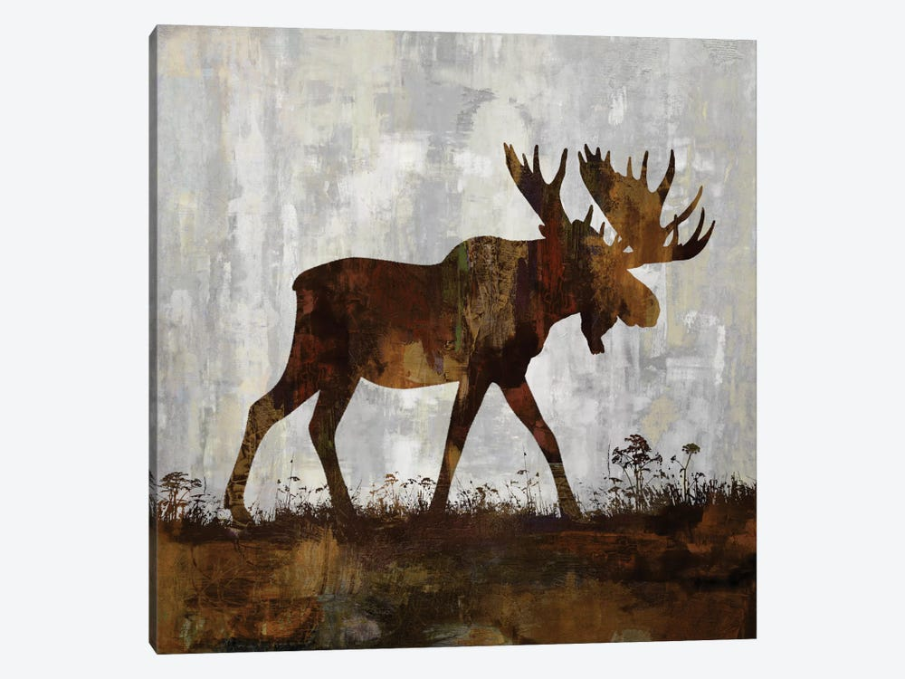Moose by Carl Colburn 1-piece Canvas Wall Art