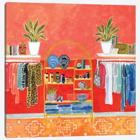 Vintage Shop Canvas Print #CCS10} by Caroline Chessia Canvas Art Print