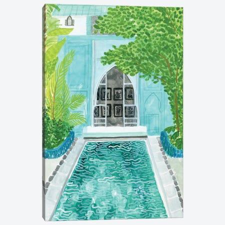 Blue Riad Canvas Print #CCS12} by Caroline Chessia Canvas Print