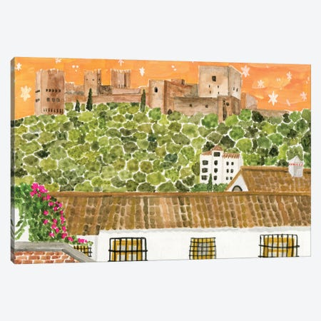 The Alhambra Canvas Print #CCS15} by Caroline Chessia Canvas Art