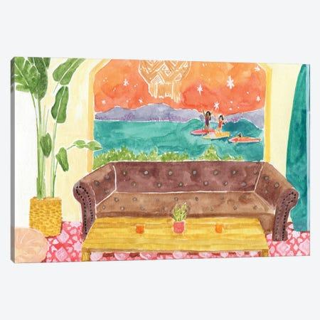Surf Camp Canvas Print #CCS16} by Caroline Chessia Canvas Wall Art