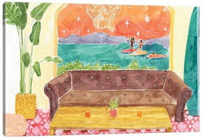 Surf Camp Canvas Art Print