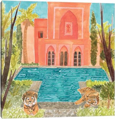 Tiger Pool Canvas Art Print