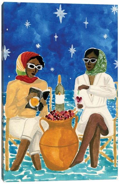 Mediterranean Vacation Canvas Art Print