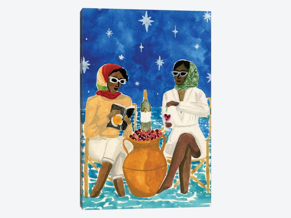 Mediterranean Vacation by Caroline Chessia 1-piece Canvas Art Print
