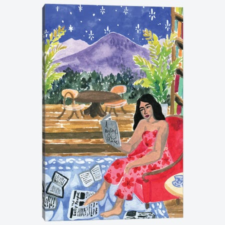 Reading With A View Canvas Print #CCS2} by Caroline Chessia Canvas Wall Art