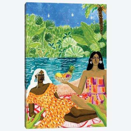 Ladies At The River Canvas Print #CCS33} by Caroline Chessia Canvas Art Print