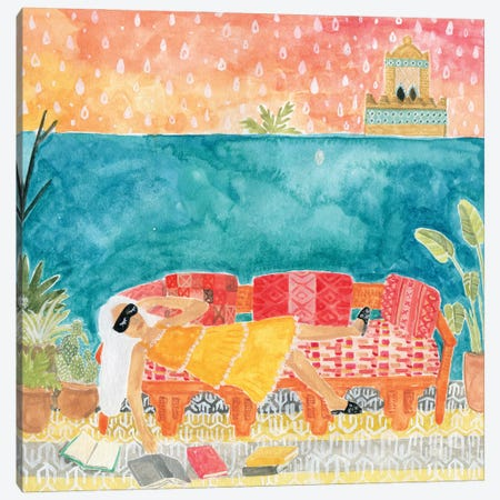 Lounging Canvas Print #CCS34} by Caroline Chessia Canvas Artwork