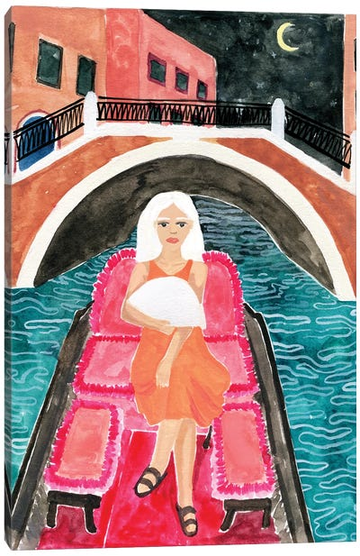 Gondola In Venice Canvas Art Print
