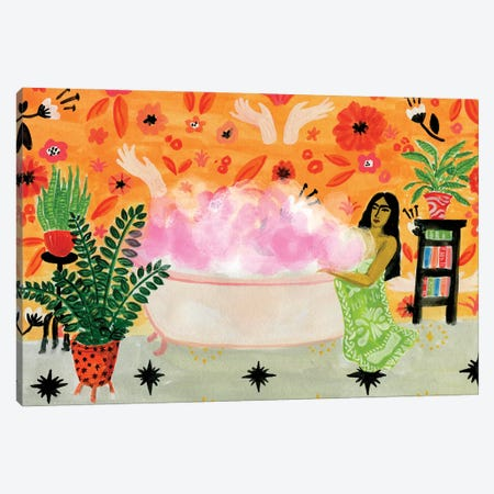 Bubble Bath Canvas Print #CCS39} by Caroline Chessia Canvas Art Print