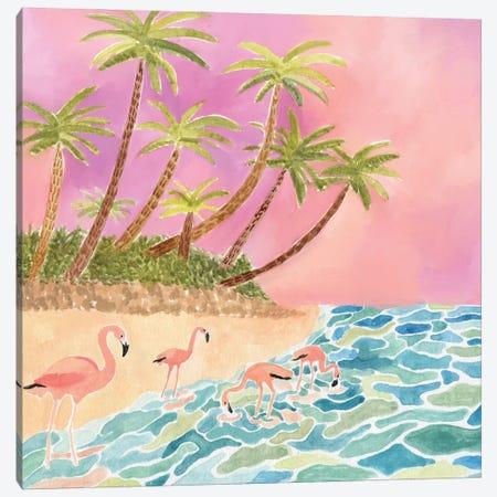 Flamingos Canvas Print #CCS41} by Caroline Chessia Canvas Art