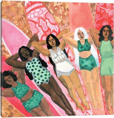 Surfer Girls Canvas Art Print