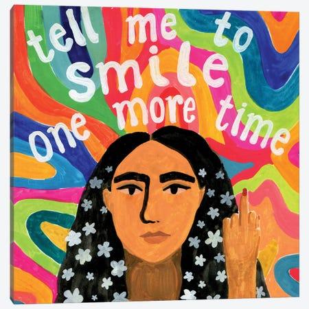Smile Canvas Print #CCS8} by Caroline Chessia Canvas Wall Art