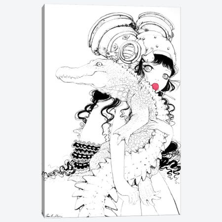 Croc-O-Hug Canvas Print #CDE11} by Camilla d'Errico Canvas Art