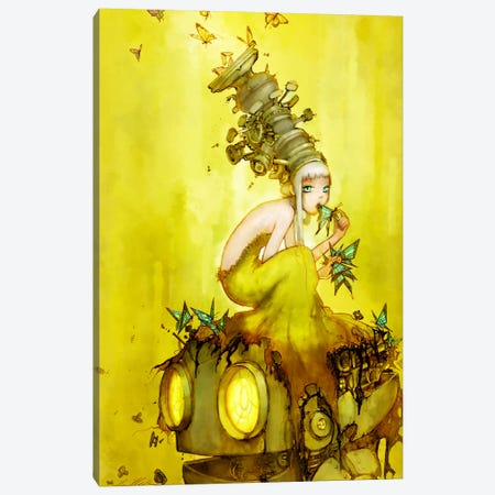 Glass Butterflies Canvas Print #CDE14} by Camilla d'Errico Art Print