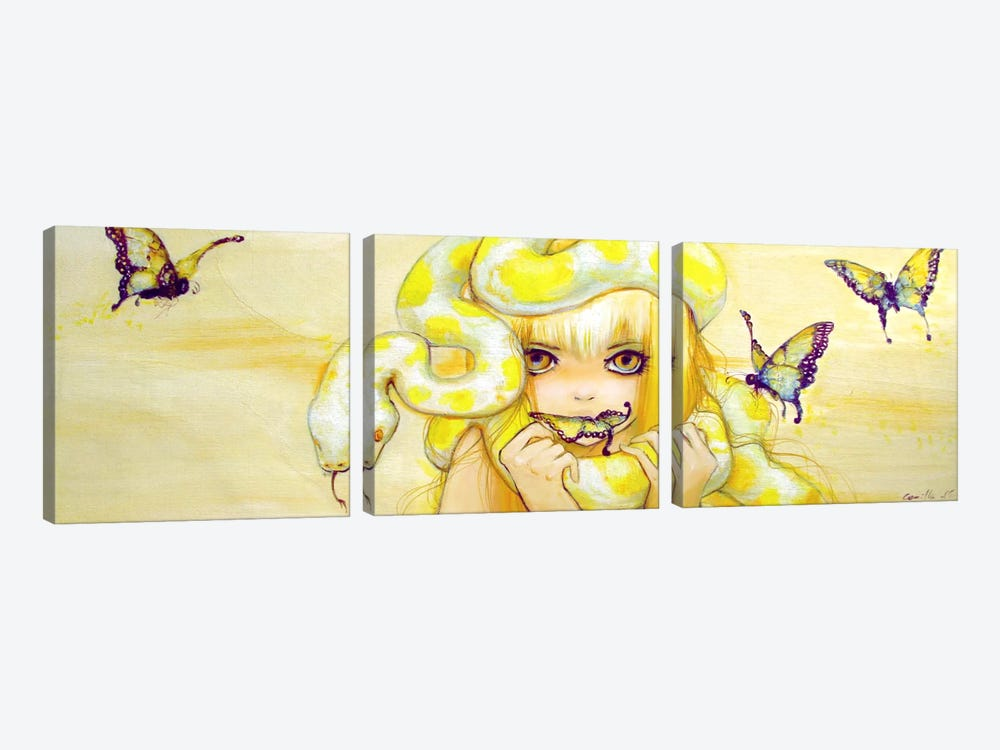 Golden Amazon by Camilla d'Errico 3-piece Canvas Print