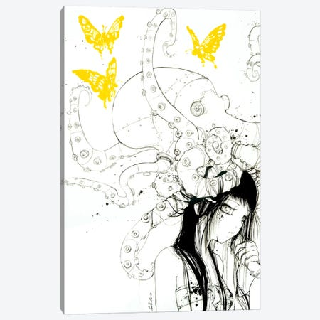 Techno Tako Canvas Print #CDE32} by Camilla d'Errico Canvas Artwork