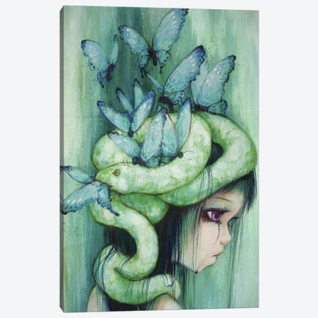 The Purple Tear Girl Canvas Print #CDE36} by Camilla d'Errico Canvas Art Print