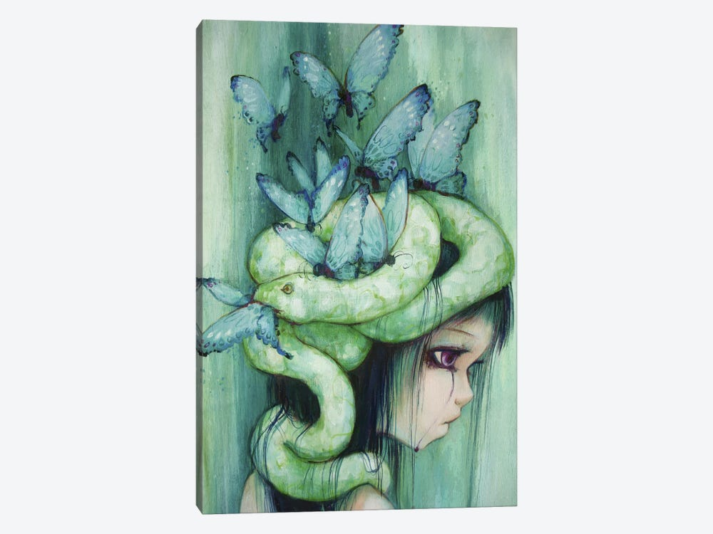 The Purple Tear Girl by Camilla d'Errico 1-piece Canvas Wall Art