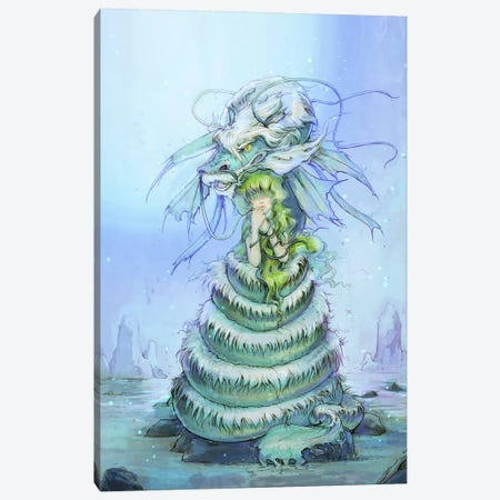 Water Dragon Dame Canvas Print #CDE39} by Camilla d'Errico Canvas Art