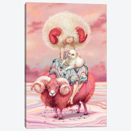 Aries 3-Piece Canvas #CDE64} by Camilla d'Errico Canvas Art