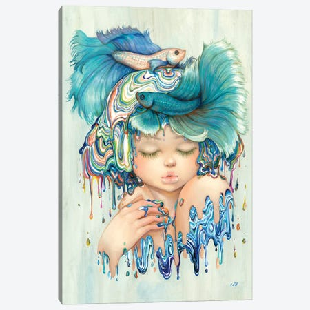Pisces 3-Piece Canvas #CDE66} by Camilla d'Errico Canvas Wall Art