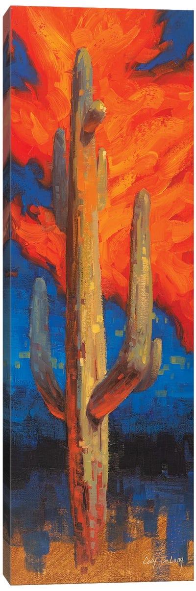 Man On Fire Canvas Art Print