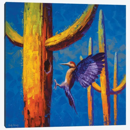Saguaro Excavator Canvas Print #CDG26} by Cody DeLong Canvas Wall Art