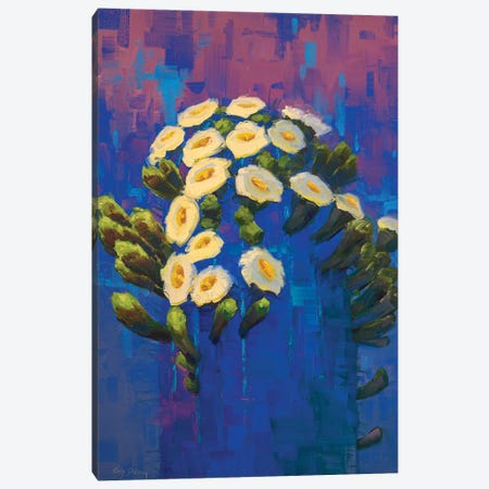 Saguaro In Blue Canvas Print #CDG27} by Cody DeLong Canvas Art