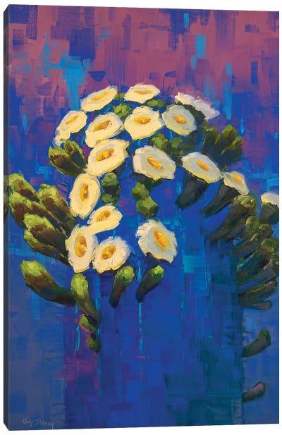 Saguaro In Blue Canvas Art Print