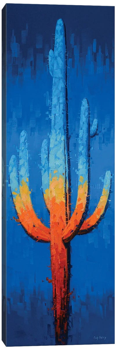 Blue Jazz Fusion Canvas Art Print