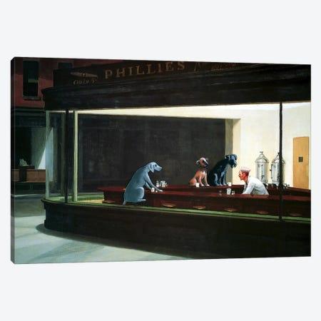 Hopper Night Hounds Canvas Print #CDI1} by Chameleon Design, Inc. Canvas Art