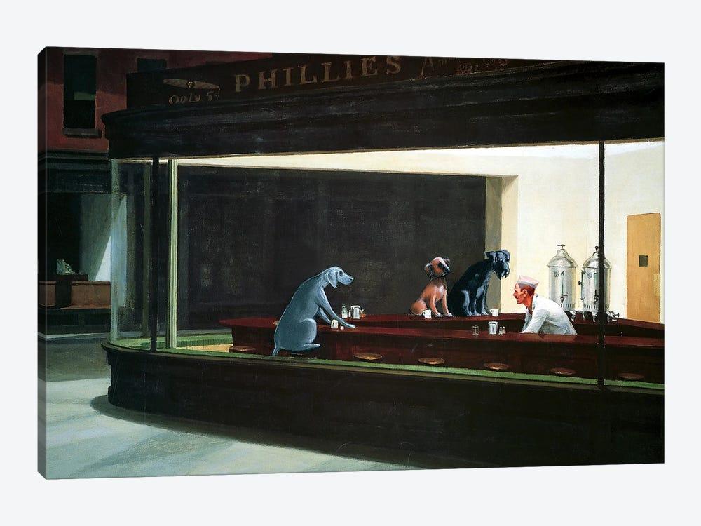 Hopper Night Hounds by Chameleon Design, Inc. 1-piece Canvas Wall Art