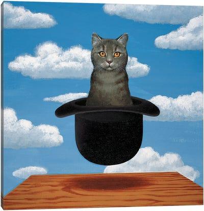 Magritte Cat Canvas Art Print
