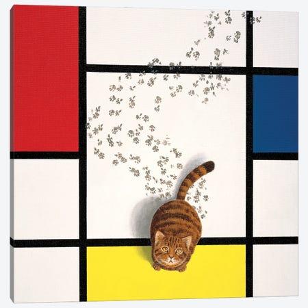 Mondrian Cat Canvas Print #CDI5} by Chameleon Design, Inc. Canvas Print