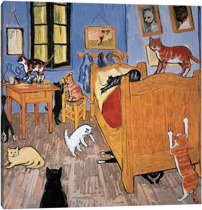 Van Gogh Arles Cat Canvas Art Print