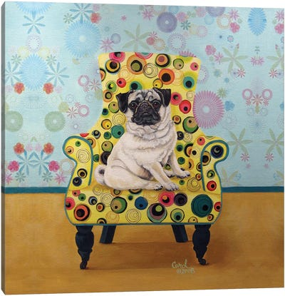 Pug-a-dots Canvas Art Print