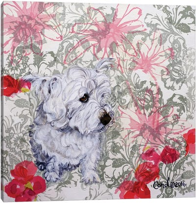 Playful Pup III Canvas Art Print