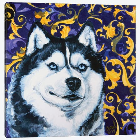 Playful Pup IV Canvas Print #CDL21} by Carol Dillon Canvas Wall Art